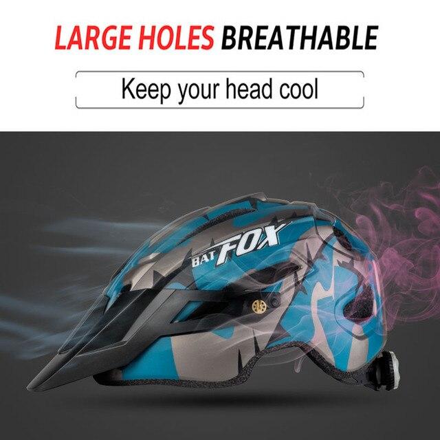 2019 corrida capacete de bicicleta com luz in-mold mtb estrada ciclismo capacete para homens mulheres ultraleve capacete esporte equipamentos de segurança 5