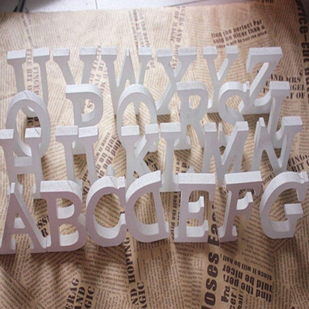15 см 26 деревянные буквы Белый Алфавит одежда для свадьбы, дня рождения автономная деревянная украшения дома имея древесины запах, белый цве...