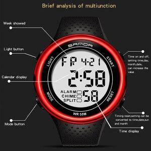 Image 3 - עמיד למים הדיגיטלי שעון מעורר גברים שעון תאריך שבוע תצוגת ספורט אלקטרוני שעונים Luminacence מצבי relogio masculino SANDA