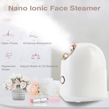 Facial Steamer Nano Ionic Face Steamer for Woman Home use Facial Sauna Spa Moisturizing Cleansing Pores Blackheads Acne(China)
