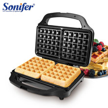 Stainless Steel Electric Waffle Pembuat Sandwich Mesin Dapur Sarapan Bubble Waffle Besi Donat Multi-Baker 220V Sonifer(China)