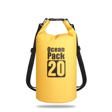 5L/10L/15L/20L/30L Outdoor swimming Waterproof Bag Pack PVC tarpaulin Camping Rafting Storage Dry Bag with Adjustable Strap Hook multifunctional waterproof outdoor drift pvc storage bag yellow 5l