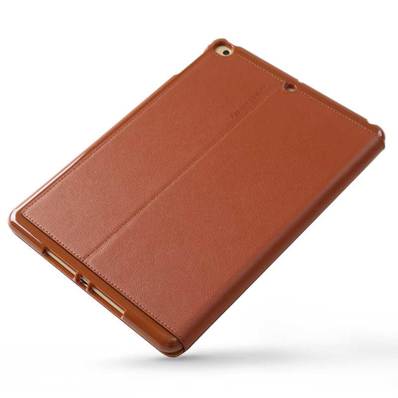 Para iPad mini5 funda Retro de piel de vaca Funda de cuero genuino funda Universal Flip Business Stand Smart Cover para Apple iPad mini4 mini5