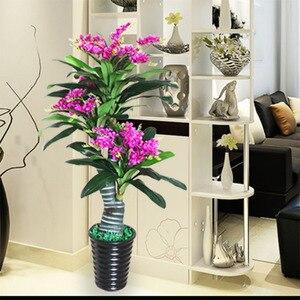 Искусственные цветы 150 см, Снежная Орхидея, cymbidium, искусственные растения для дома, украшение для гостиной, растение в горшке, бонсай