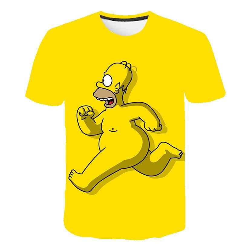 シンプソンズホーマー 3dプリントtシャツバートシンプソン家服シンプソンズスウェットシャツコスチューム男性/女性シンプソン家族シャツ
