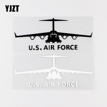 YJZT 16X6.4CM U.S.AIR FORCE Aircraft Personality Car Stickers Vinyl Decals Black / Silver 10A-0009 image