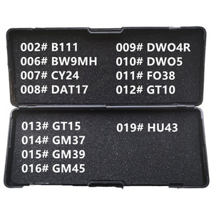 Image 1 - 1 19 لى شى 2 في 1 B111 BW9MH CY24 DAT17 DWO4R DWO5 FO38 GT10 GT15 GM37 GM39 GM45 HU43 الأقفال أدوات لجميع أنواع
