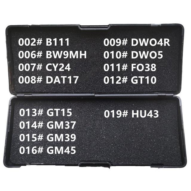 1 19 لى شى 2 في 1 B111 BW9MH CY24 DAT17 DWO4R DWO5 FO38 GT10 GT15 GM37 GM39 GM45 HU43 الأقفال أدوات لجميع أنواع