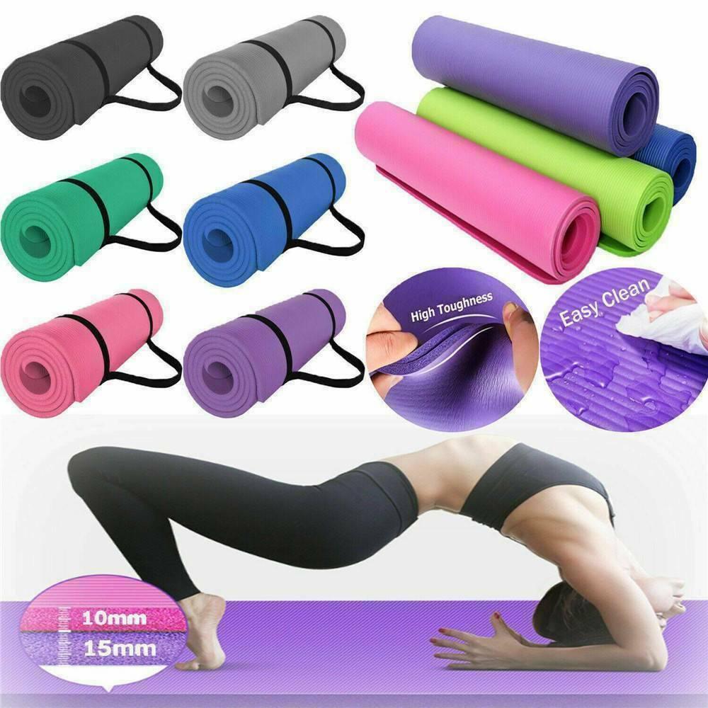 60cmx25cmx1.5cm NBR Yoga Mat Non Slip Carpet Pilates Gym Sports Exercise Pads For Beginner Fitness Environmental Gymnastics Mats