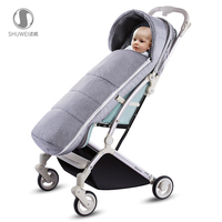 Stroller sleeping bag baby autumn and winter windproof and cold insulation
