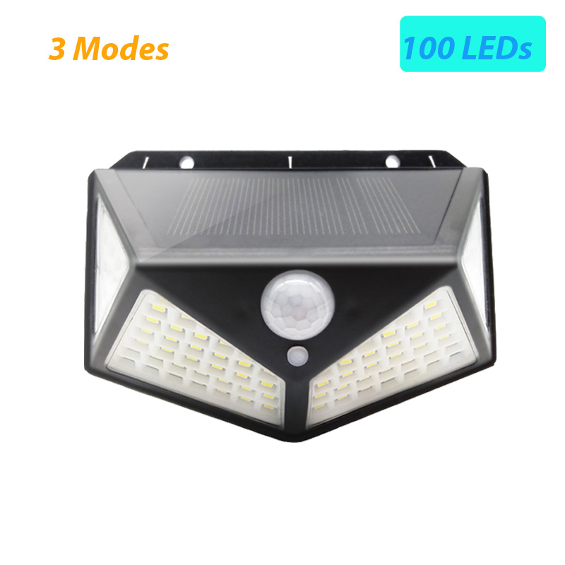 100 LED Solar Light Outdoor Solar Lamp PIR Motion Sensor Wall Light Waterproof Solar Sunlight Powered Garden street light (16)