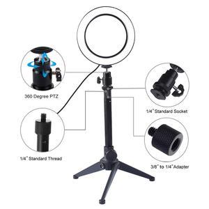 Image 3 - ไฟ LED การถ่ายภาพวิดีโอ Selfie โคมไฟหรี่แสงได้โทรศัพท์กล้องขาตั้งกล้องสำหรับถ่ายภาพแต่งหน้าวิดีโอสตูดิโอ
