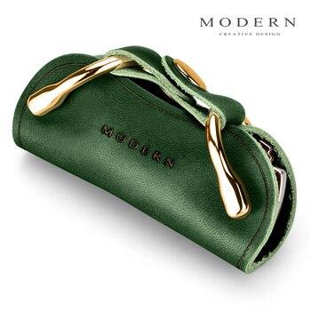 Modern - Brand New Genuine Leather Smart Key Wallet DIY Keychain EDC Pocket Car Key Holder Key Organizer Holder 9