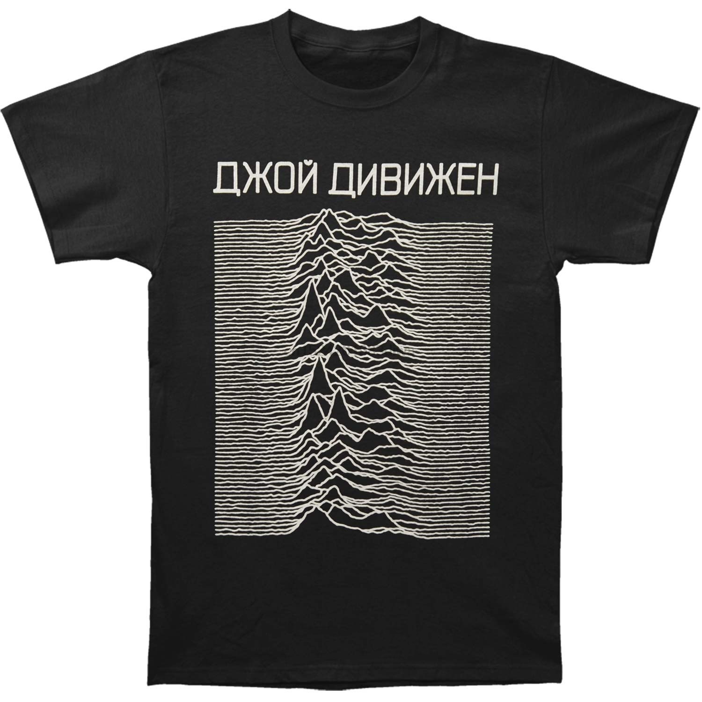 T Shirt Men Novelty Tshirt Joy Division Unknown Pleasures Cyrillic T-Shirt Funny Men T Shirt Fitness t-shirt street tshirt