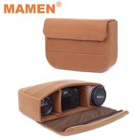 MAMEN-bolsa acolchada a prueba de golpes para cámara, funda protectora de 34x22x9cm para Canon, Nikon, DSLR, accesorios de fotografía