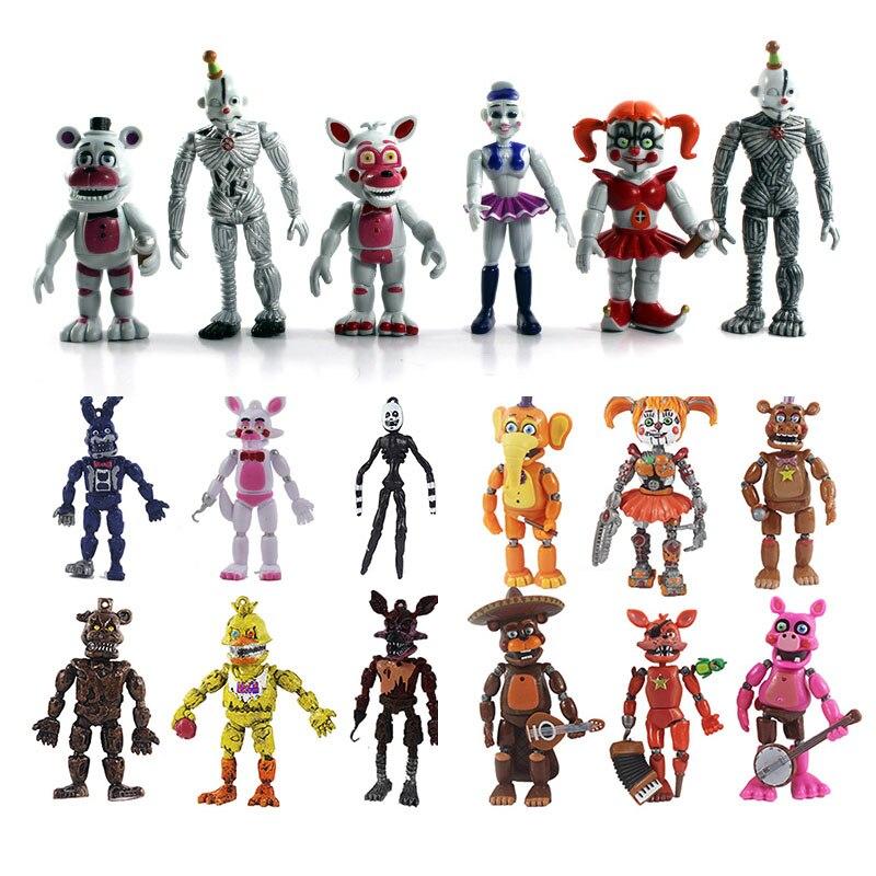 Anime 6/10/12PCS Five Nights At Freddy's Figure Set Game FNAF Foxy Bonnie Freddy Fazbear Sister Location Model Dolls FNAF Toy