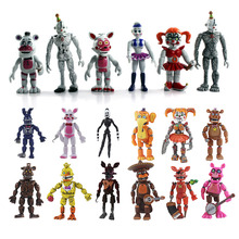 FNAF 5 6 12 sztuk pięć nocy w Freddy #8217 s zestaw figurek gry FNAF Foxy Bonnie Freddy Fazbear siostra lokalizacja lalki prezent zabawka tanie tanio Model Żołnierz gotowy produkt Wyroby gotowe Unisex Jeden rozmiar Five Nights at Freddys toy 8-12cm 1 60 Zachodnia animiation