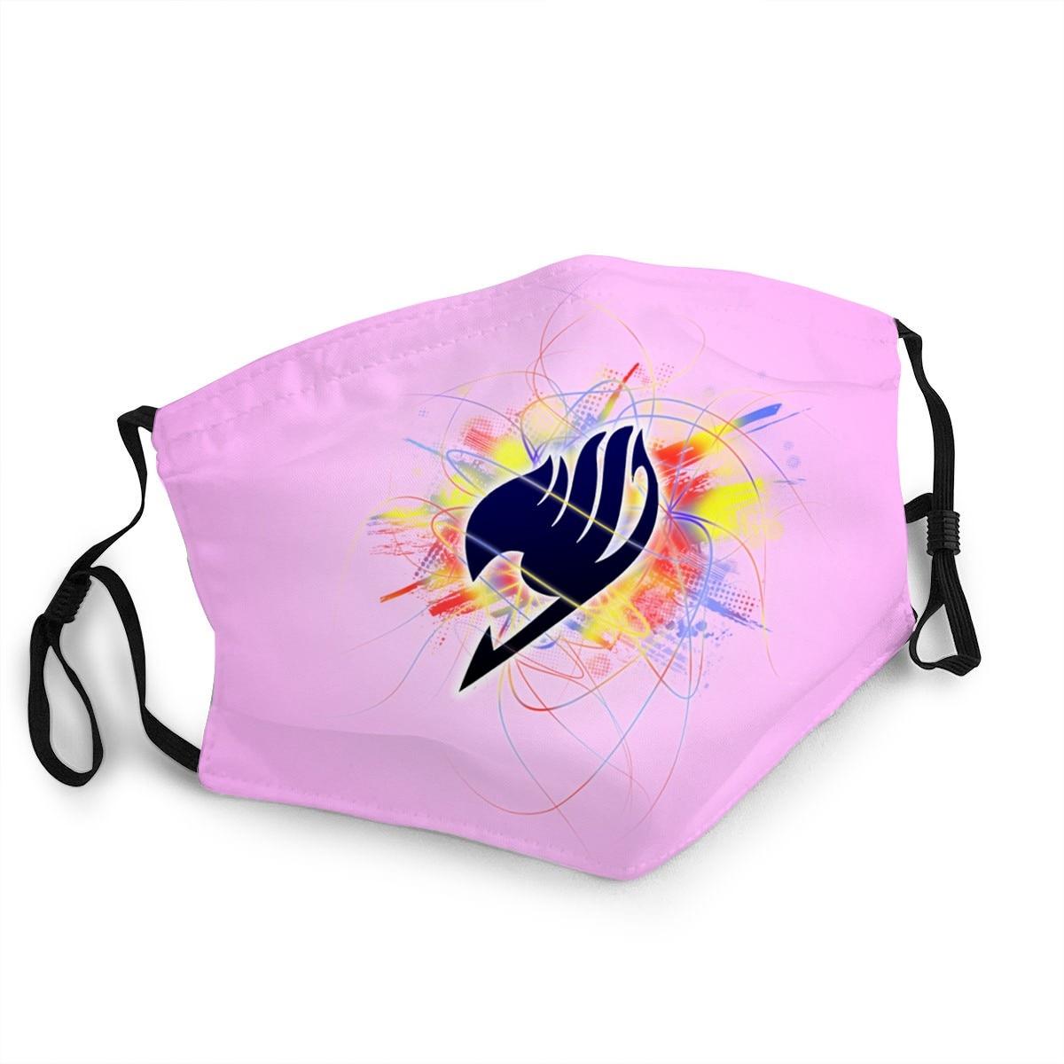 Модная моющаяся Антибактериальная маска-брелок с логотипом Феи хвоста и лица