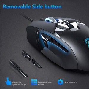 Image 4 - DAREU EM945 PMW3389 Sensor Gaming Maus 16000DPI 440IPS KBS taste Verdrahtete Mäuse mit OLED Bildschirm & DIY Seite taste für FPS Gamer