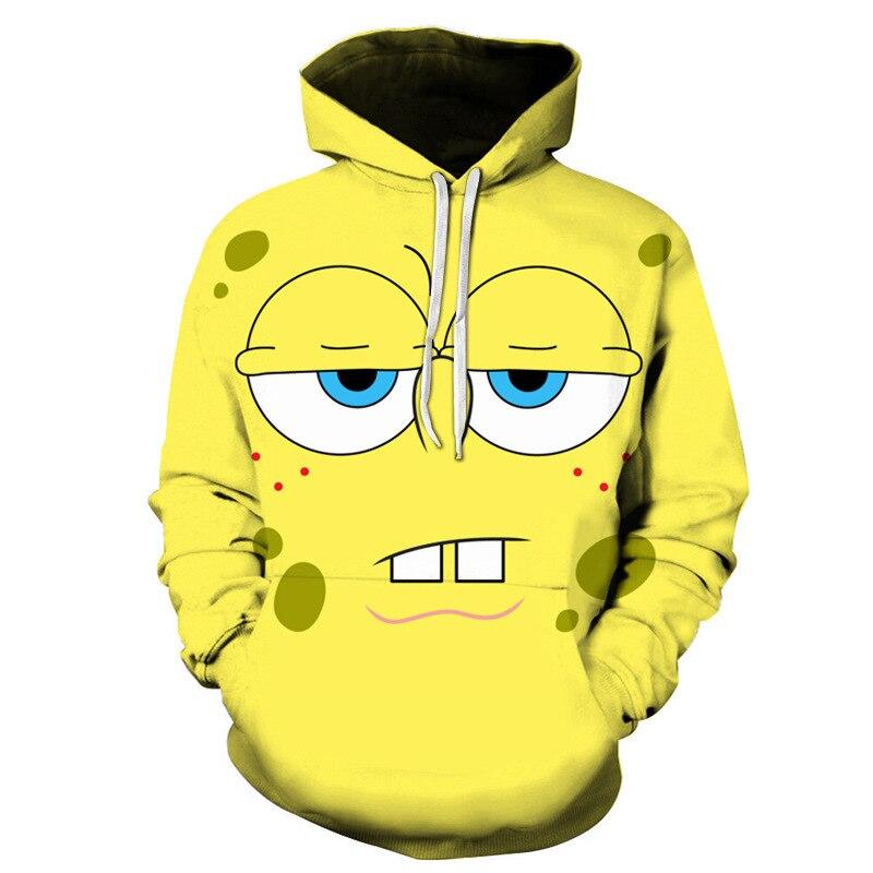 2020 New Fall / Winter Men's/Women's Fall Hoodie 3D Cute SpongeBob Children's Casual Hoodie Cool Pattern Sweatshirt Kid Clothing