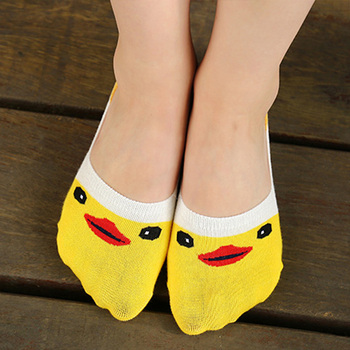 1pair Summer Cartoon Boat Socks Cotton Small Yellow Duck Woman Sock Invisible Girl Boy Slipper Casual Hosiery New image