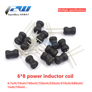 5 pcs 6 * 8 power inductor coil 4.7 uH 22 10 33 47, 100, 470, 220, 68 1 MH 6x8MM