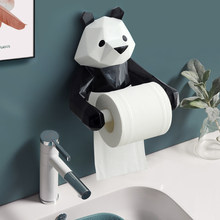 Modern Style Wall Mounted Resin Panda Statue Paper Tissue Holder Decorations Kitchen Napkin Holder Bathroom Toilet Napkins Paper