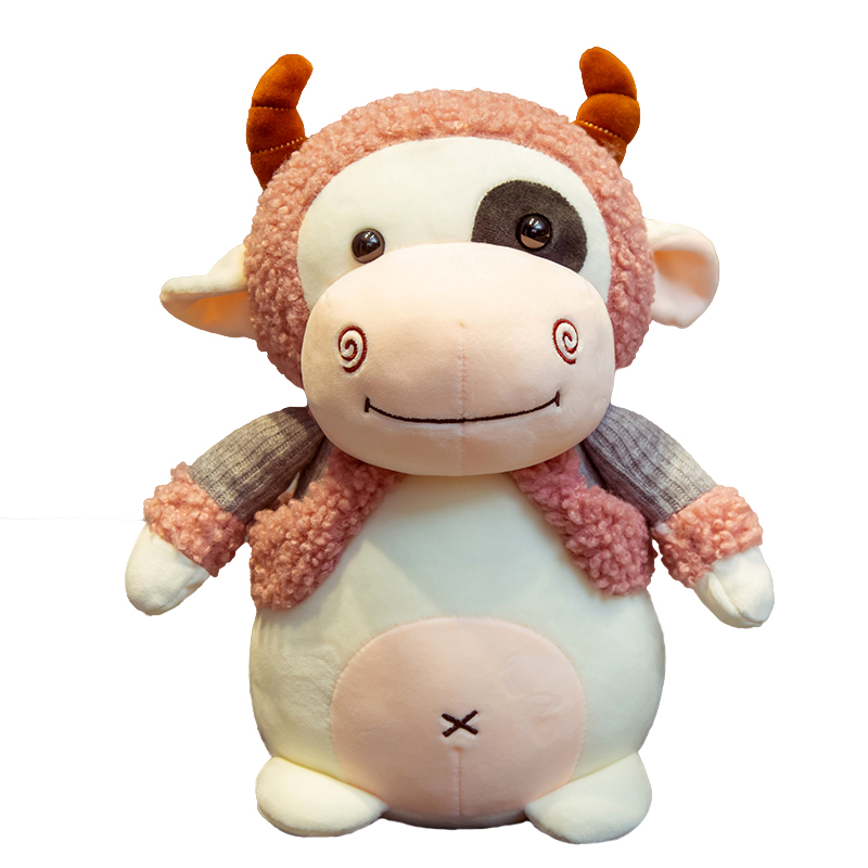 Hot 25/35/45cm Super Soft Lovely Stuffed Cattle Plush Toys Cute Animals Milk Cow Plush Doll Kids Baby Huggable Toy Cartoon Gifts  - buy with discount