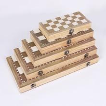 3 в 1 складной деревянный набор с шахматной доской дорожные игры шахматы нарды шашки игрушка шахматы развлечения игра настольные игрушки подарок