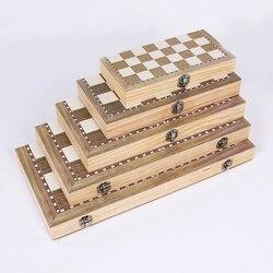 3 в 1 складной деревянный набор с шахматной доской игры для путешествий шахматы развлечения Настольные игрушки подарок