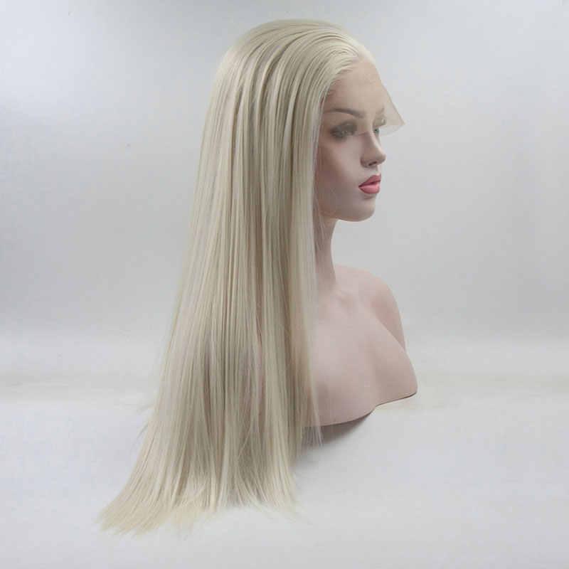 Парик с синтетическими волосами на шнуровке спереди, из термостойкого волокна