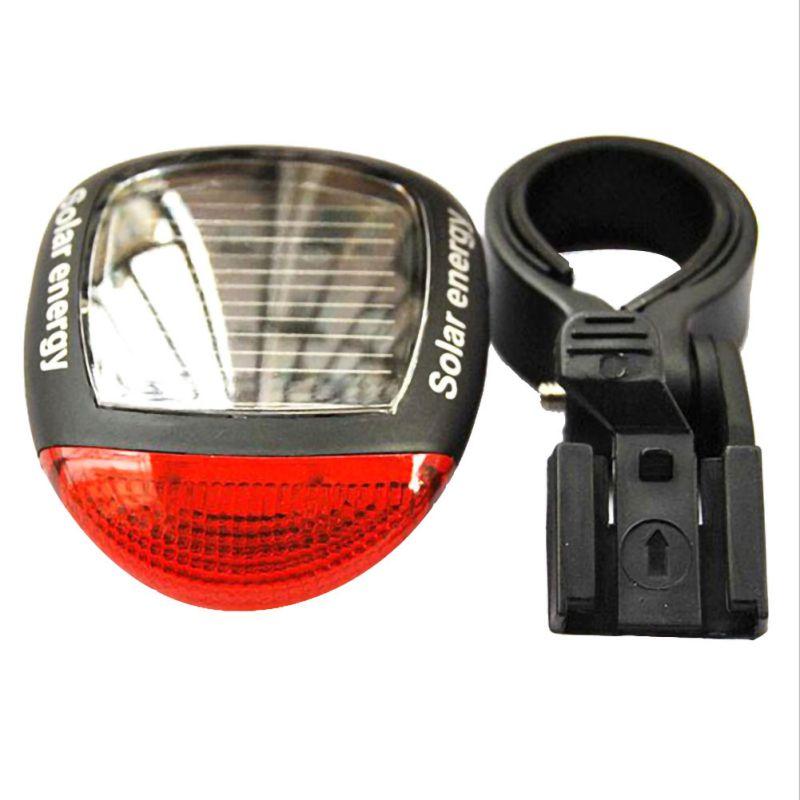 Durable 2 LED Bicycle Solar Charge Tail Light Flash Mountain Bike Solar Light Warning Light Headlight