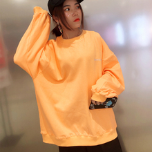 sweatshirt long sleeve Spring and Autumn cotton letters sweatershirt  women loose laps lazy trend students