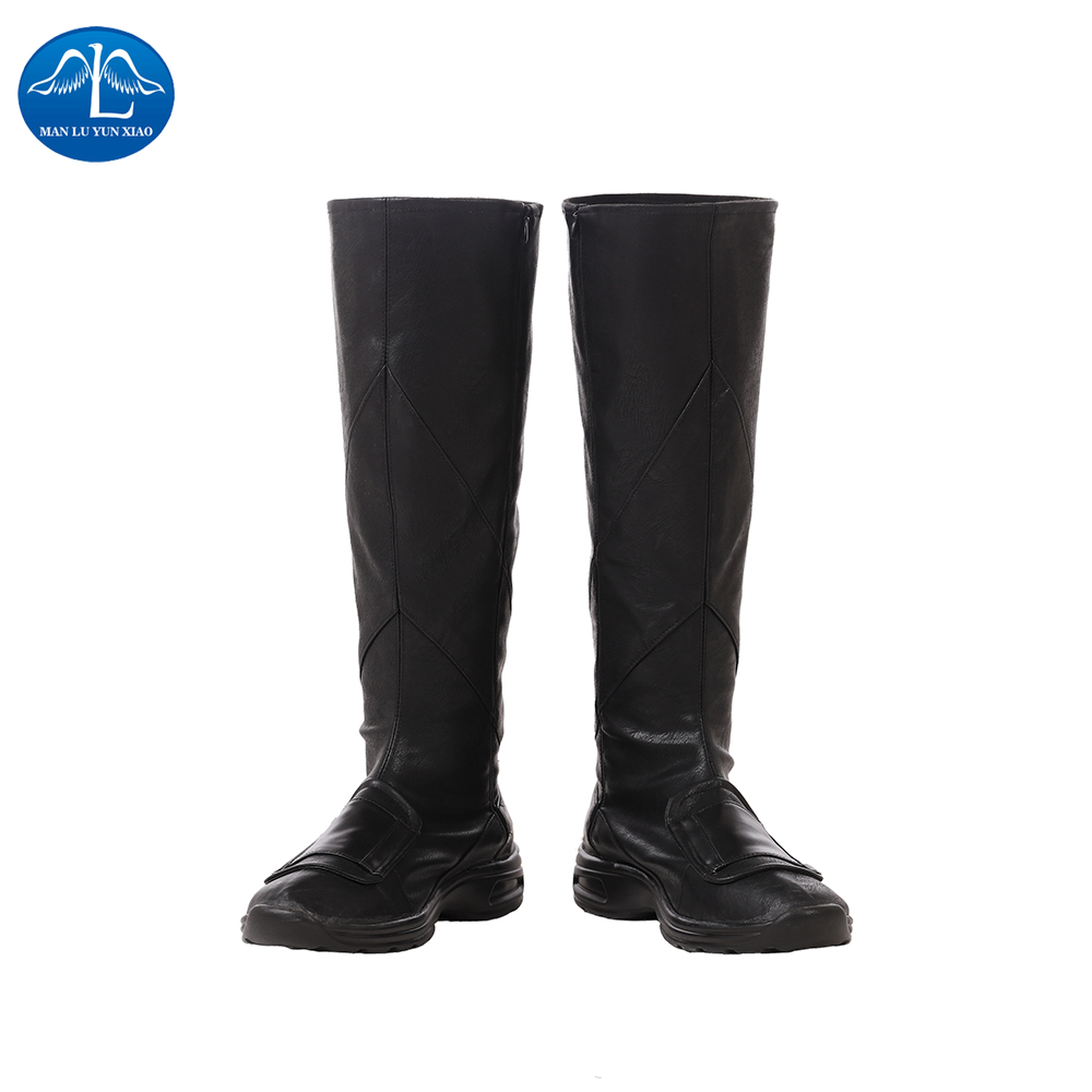 Manluyunxiao Deathstroke Cosplay Male High Boots Slade Joseph Wilson DC Super Villain Terminator Halloween Costumes For Men image