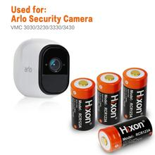 O ul & fcc de 4 pces certificou baterias protegidas recarregáveis de 700 mah rcr123a para as câmeras de netgear arlo hd e o lítio íon de reolink