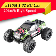 High Quality 9115M 1/32 2.4G 2WD 4CH Mini High Speed Radio USB Charging RC Racing Car Rock Crawler Off-Road Truck Toys