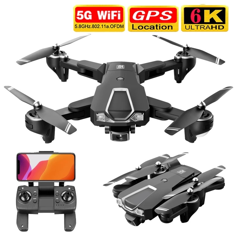 GPS Drone 5G 6K HD Dual Camera  Wifi Fpv Rc Quadcopter  playing Time About 18 Mins Dron 167g Remote Control Distance 500m