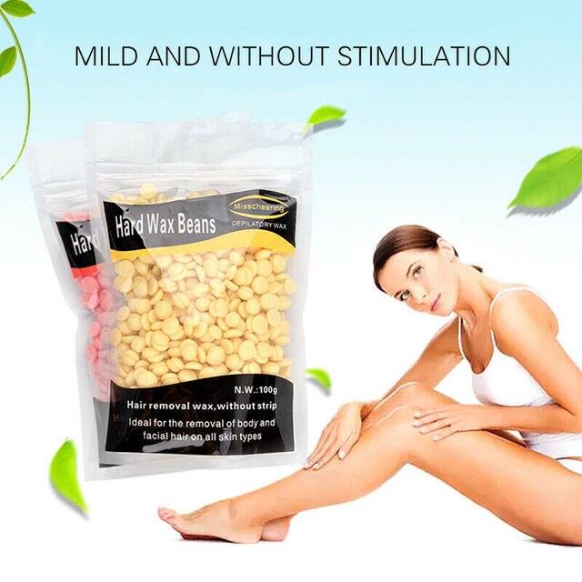 Hot 50g Wax beans No Strip Depilatory Hot Film Hard Wax Pellet Waxing Bikini Face Hair Removal Bean cera For Women Men 1