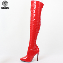 JIALUOWEI Ladies Mens Thigh High Over Knee Boots Stiletto Heel Size 5-15