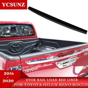Protector de raíl ABS sobre riel, forro de cama de carga para Toyota Hilux Revo Rocco 2015 2016 2017 2018 2019 2020 TruckMasters OX doble cabina