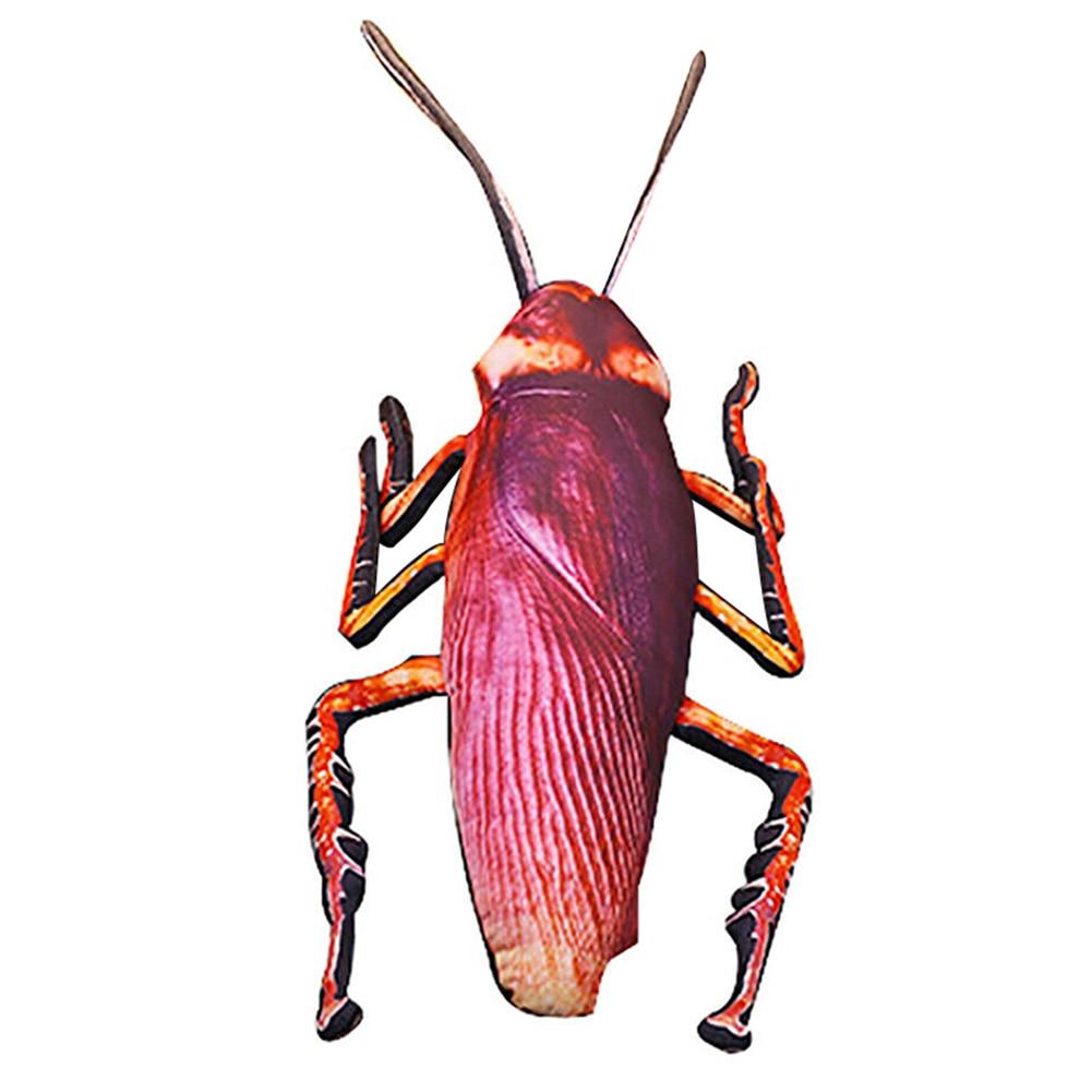Vivid 3D Simulation Cockroach Plush Cushion Prank Props Insect Nap Toy M09