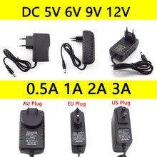 Adaptateur d'alimentation ca à cc 5V 6V 9V 12V, convertisseur 0,5a 1A 2A 3A 100-240V, prise US et EU pour lampe CCTV