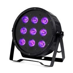 9x18 w conduziu a luz da paridade 6in1 rgbwa uv conduziu luzes lisas do dj slimpar com controlador liso dos equipamentos do dj dmx512
