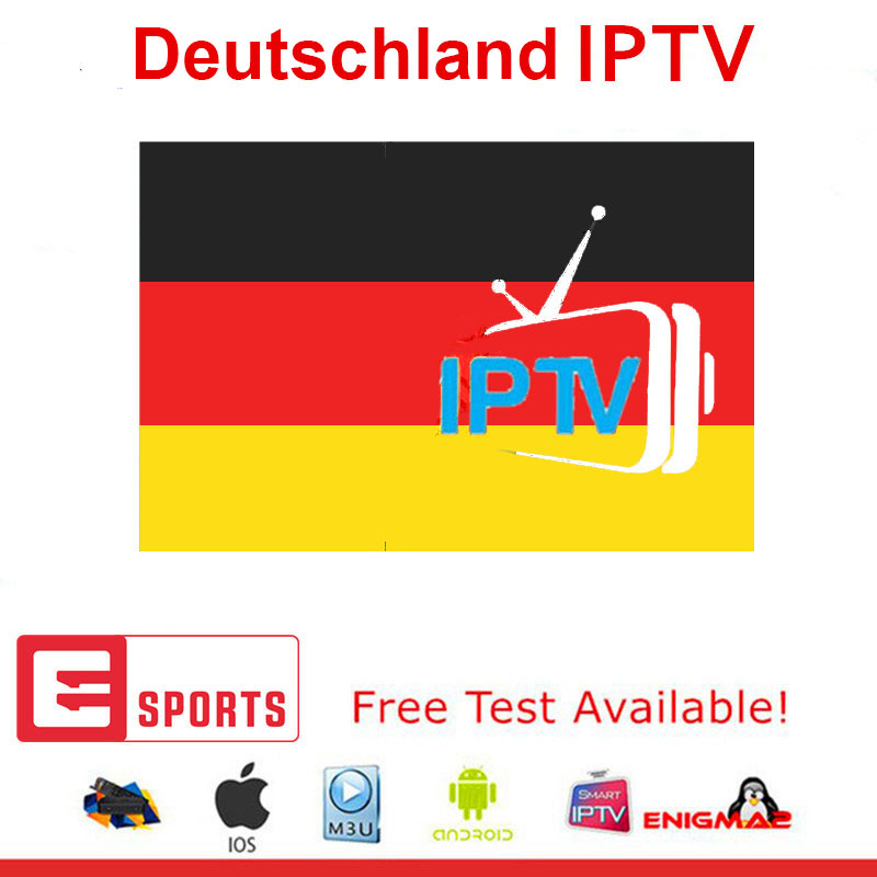 1 Year HD Germany IPTV Subscription 200 LiveTV VOD For Android TV Box Smart Tv Enigma2 Free Test IPTV M3U Deutschland Channels