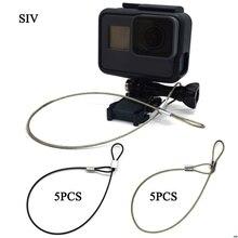 SIV شريط للتأمين الفولاذ المقاوم للصدأ الحبل الحبل المعصم اليد 30 سنتيمتر للكاميرا GoPro جديد