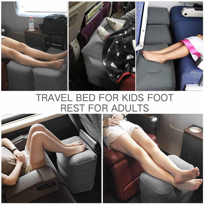 Przenośne dzieci lot śpiący podnóżek samolot poduszka podróżna odpoczynek poduszka autobus samochodowy poduszka dmuchana poduszka pod stopy podnóżek