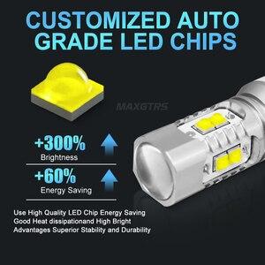 Image 2 - Luz LED de respaldo para coche bombilla de marcha atrás, luz de señal de giro, lámpara de freno, 2 uds., Chip CREE XBD 50W T15 W16W 921 912