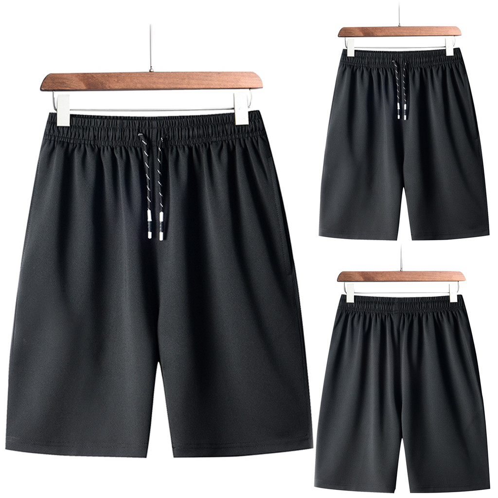 Men's Pants Short Summer Fashion Plus Size Thin Fast-drying Beach Trousers Casual Sports Short Pants Fitness Men Pants Short#pG