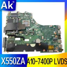 AK X550ZA scheda madre Del Computer Portatile per ASUS X550ZA X550ZE X550Z X550 K550Z X555Z VM590Z Prova mainboard originale A10-7400P LVDS GM