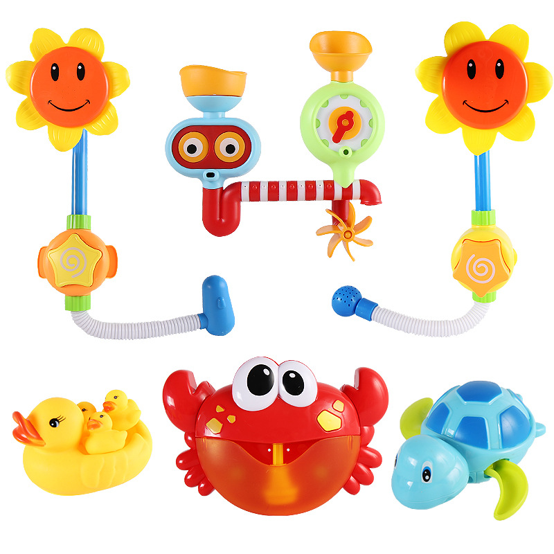 Bubble Crabs& Frog Whale Baby Bath Toy Funny Bubble Maker Pool Swimming Bathtub Soap Machine Baby Toys For Children Kids